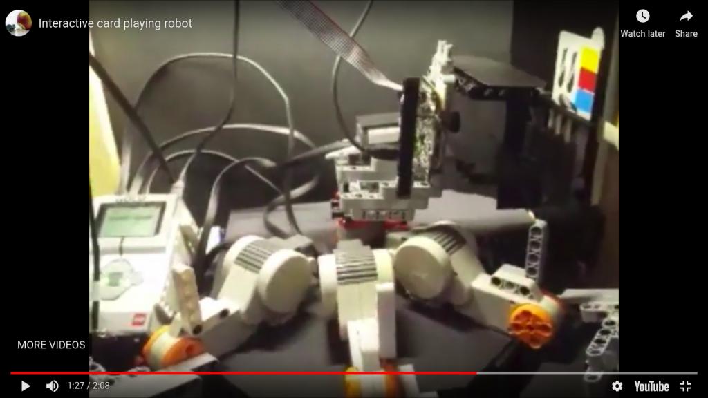 Alanna's Interactive Card Playing Robot